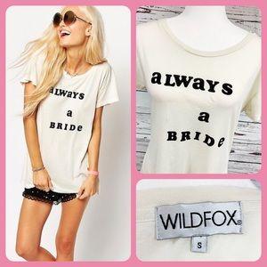 Wildfox Always a Bride Cream Short Sleeve Tee